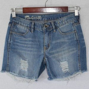 NWOT Madewell Distressed Denim Shorts Size 24